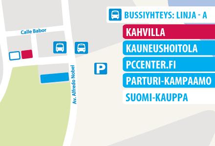 centro comercial finlandes map